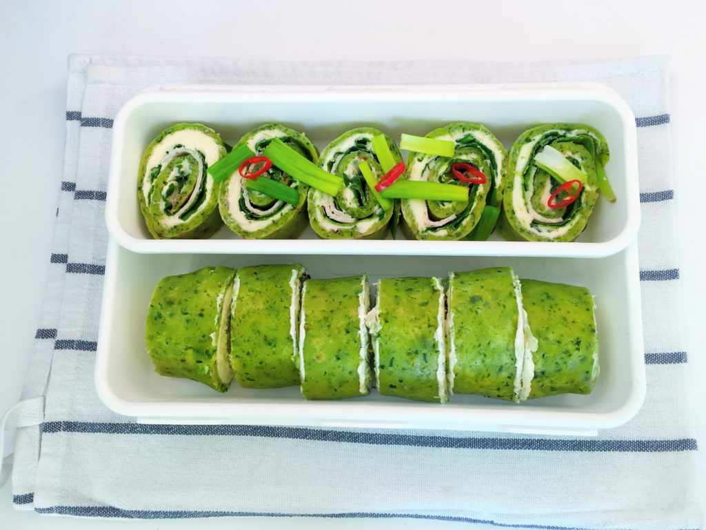 Lunch box z rollsami