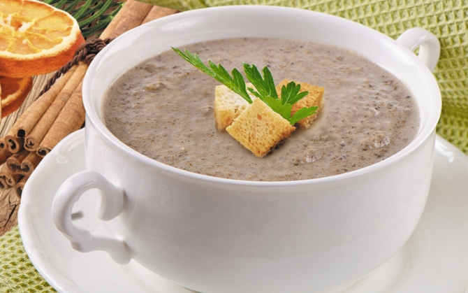 Zupa krem z borowików